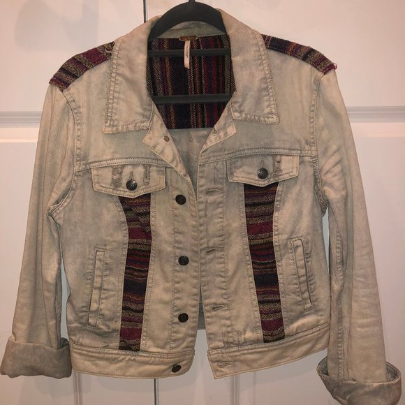 Free People Pattern Denim Jacket